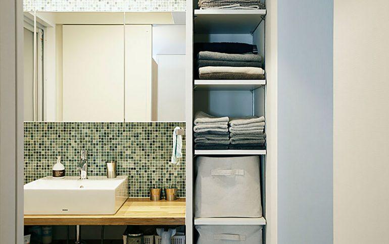 OURHOME-Emiさんが綴る、仕組みづくりですっきり片付く洗面所