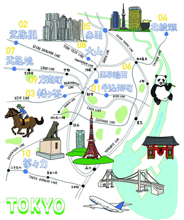 リノサポ的TOKYO住みたい街TOP10