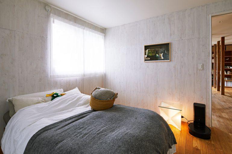 1階にある寝室
