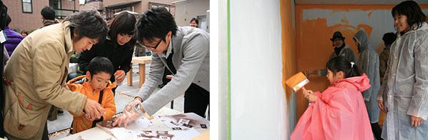 洋服を着替えるようにテーマで塗り分ける、カラフルな壁